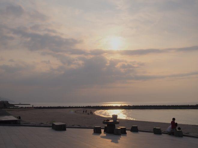ふたみシーサイド公園夕陽2