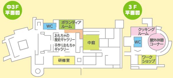あいあい児童館平面図3階