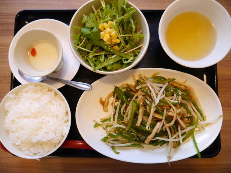 中華麺飯茶屋佳_青椒肉絲2
