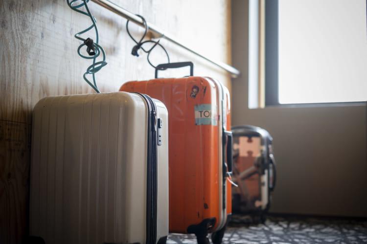 今治喜助の宿_スーツケース置き場