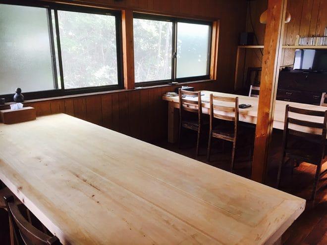 宗兵衛窯 陶房土土 ひのきテーブル