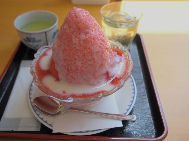 登泉堂いちごかき氷2017