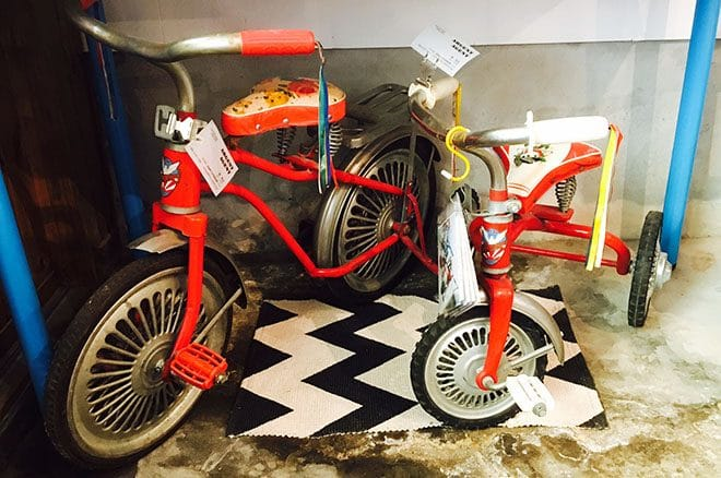 組み立て式三輪車