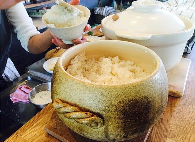 食堂まるふ農園土鍋で炊くライス