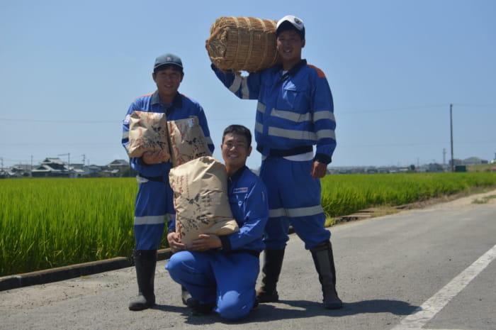 お米を作っている人たち