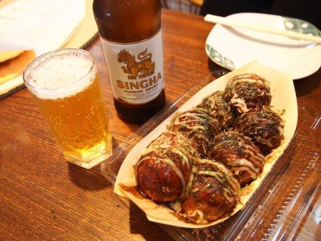 マユダマたこ焼きビール