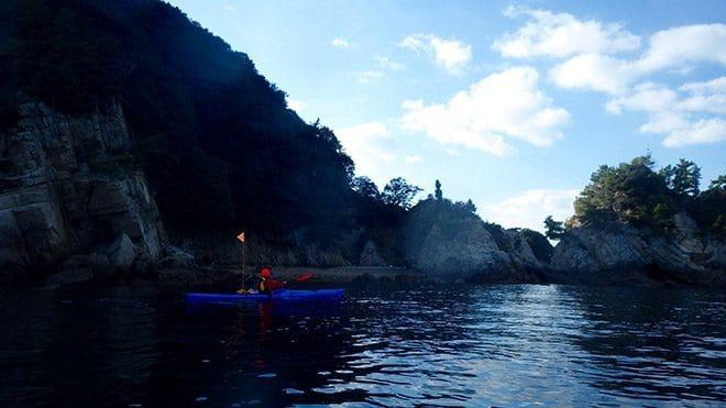 佐島シーカヤック体験 島の風景
