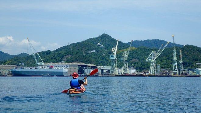 佐島カヤック体験造船所の風景