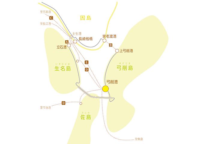 かみじまパンフェス弓削島へのアクセスマップ