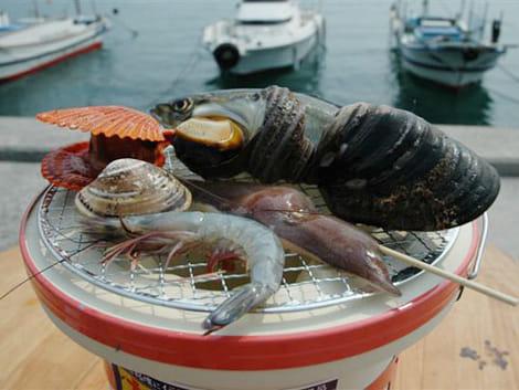 よしうみいきいき館海鮮バーベキュー