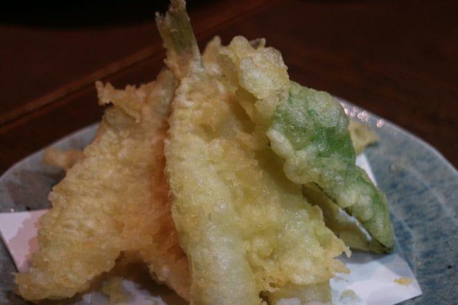 花咲か爺屋おすすめ料理キスの天ぷら