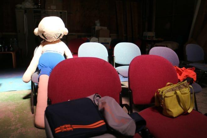 愛媛プロレス体験教室 椅子