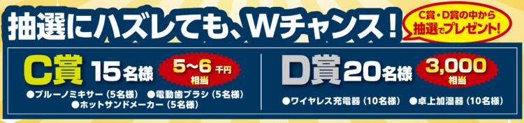 50周年キャンペーンC賞D賞